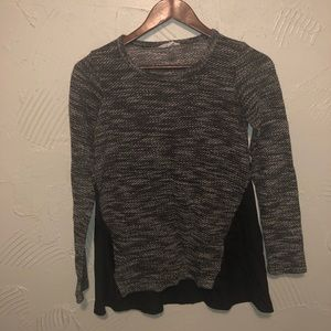 Women's Lucky Brand Black and Grey Sweater